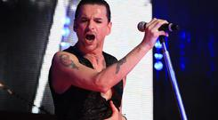 Dave Gahan of English electronic band Depeche Mode