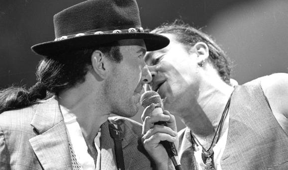 Reprisal: The Edge and Bono on the original Joshua Tree tour at Croke Park in 1987