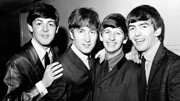 The Beatles, left to right, Paul McCartney, John Lennon, Ringo Starr and George Harrison