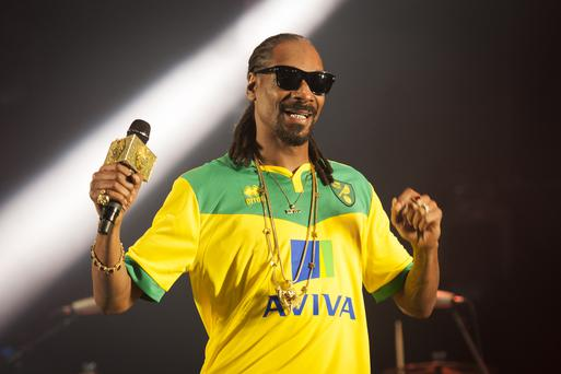 Snoop Dogg performing at the Radio 1 Big Weekend, held in Earlham Park, Norwich.