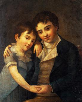 Musical family: Mozart's sons Franz Xaver and Karl. Photo by DeAgostini/Getty Images