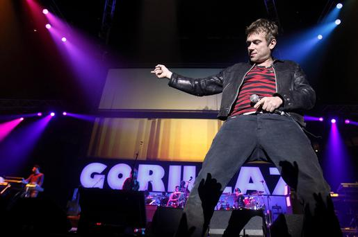 File photo dated 12/11/10 of Damon Albarn and the Gorillaz who have announced their first UK live performance since 2010 - and it will be at their very own festival.
