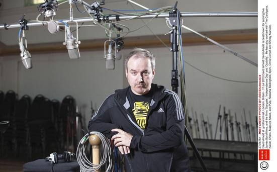 David Arnold: 'I won't be taking to the stage in Dublin on a cloud of dry ice and in a swan-drawn chariot'