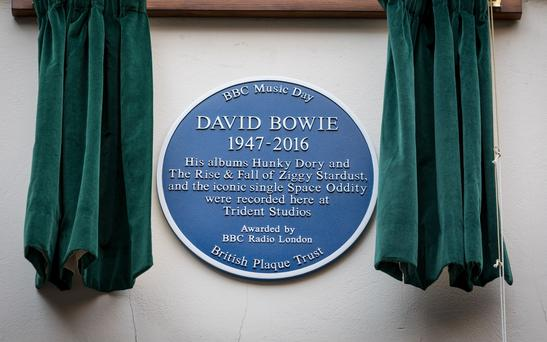 David Bowie honoured with three blue plaques on BBC Music Day