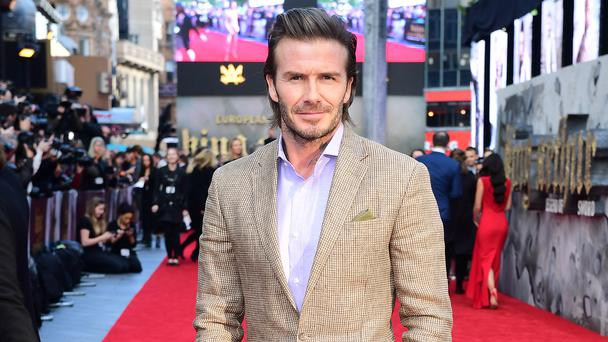 David Beckham at the King Arthur premiere in London (Ian West/PA).