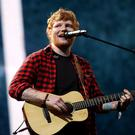 Ed Sheeran performing on the Pyramid Stage (Yui Mok/PA)