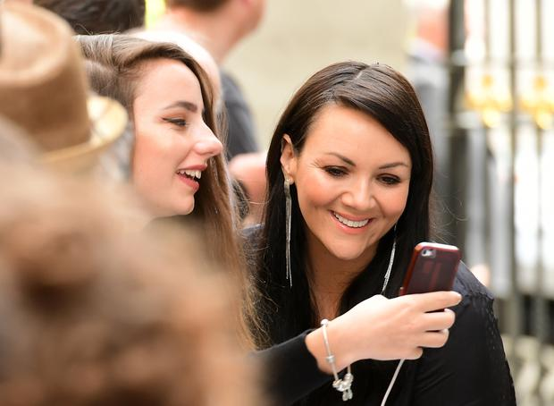 Martine McCutcheon interacts with fans during the O2 Silver Clef Awards 2017, with the support of Nordoff Robbins (Ian West/PA)