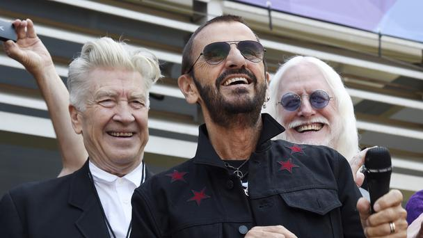 Ringo Starr was joined by Twin Peaks co-creator David Lynch (left) (Chris Pizzello/AP)