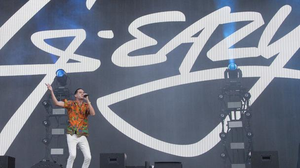 Rapper G-Eazy performs on stage at the Wireless Festival in Finsbury Park (Joel Ryan/AP)