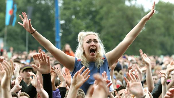 The crowd at TRNSMT festival (Andrew Milligan/PA)