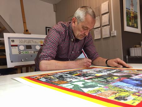 From ska to pop art: Horace Panter at work on pieces for his Dublin exhibition