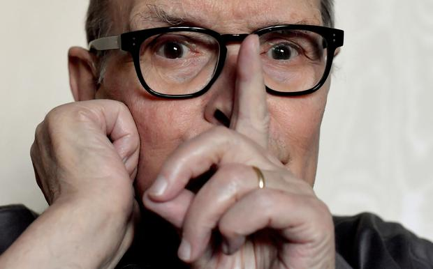 Italian composer Ennio Morricone poses during an interview in Rome