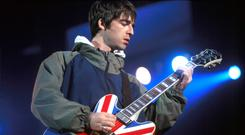 Rock 'n' roll stars: Oasis were one of a host of bands who defined the Britpop era