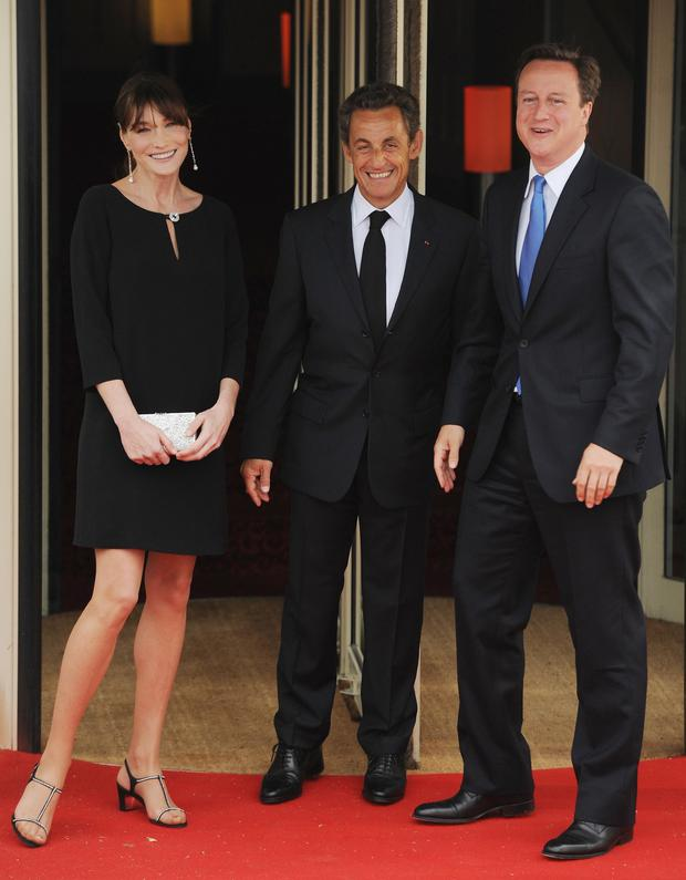 French President Nicolas Sarkozy and his wife Carla Bruni with former  British Prime Minister David Cameron 43732862bf65