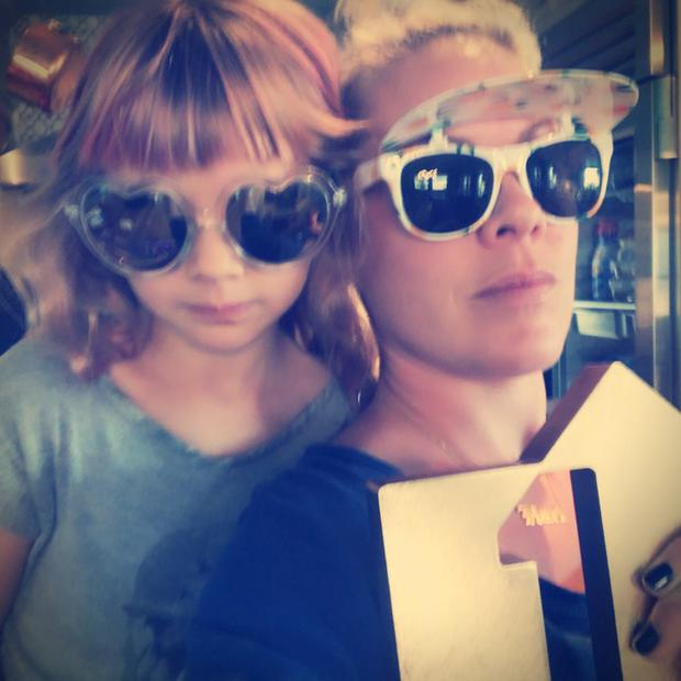 Pink and Willow celebrate chart success.