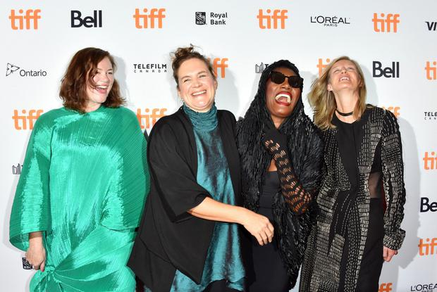 Katie Holly, Sophie Fiennes, Grace Jones and Shani Hinton at the film premiere in Toronto. Photo: George Pimentel/WireImage