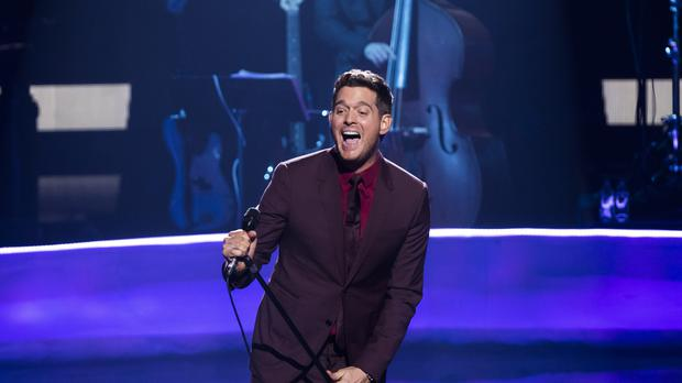 Michael Buble performs at Apple Music Festival – London