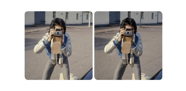 Freddie with camera on the drive to the ferry, May 11, 1977