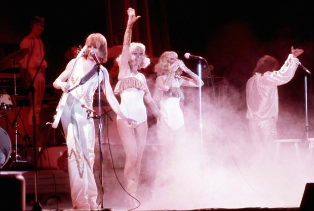 Abba on stage (PA)