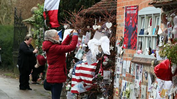 Tributes are left at the home of singer George Michael