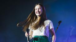 Sigrid performs on stage (Danny Lawson/PA)