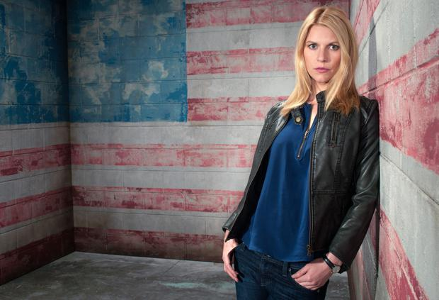 Claire Danes as CIA agent Carrie Mathison in Homeland