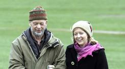 Glastonbury Festival organiser Michael Eavis with his daughter Emily Eavis (Anna Barclay/PA)