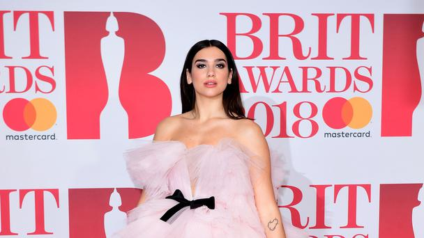 Dua Lipa attending the Brit Awards at the O2 Arena, London. (Ian West / PA)