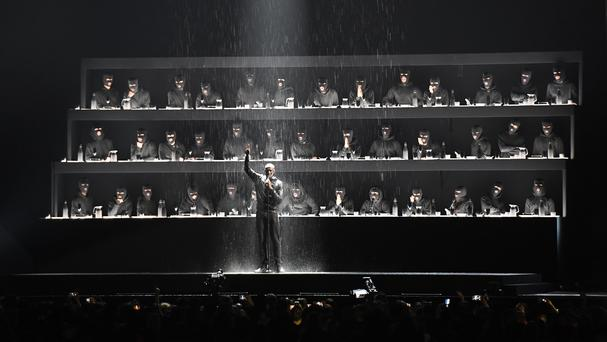 Stormzy on stage during the 2018 Brit Awards (Victoria Jones/PA)