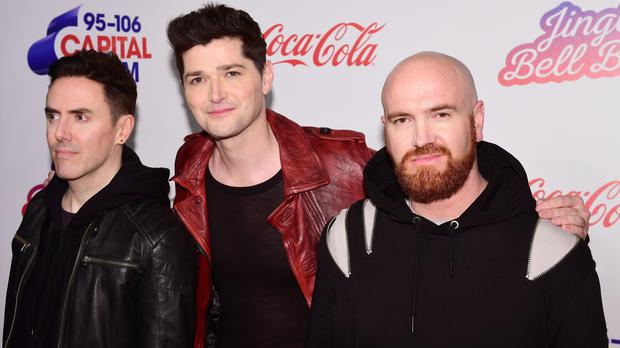 The Script's Glen Power, Danny O'Donoghue and Mark Sheehan (Ian West/PA)