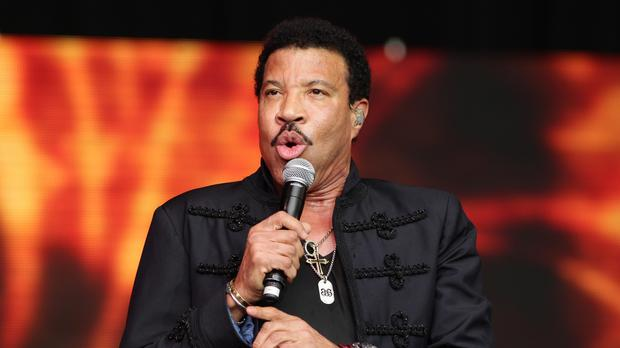 Lionel Richie said the kiss was 'all in fun'
