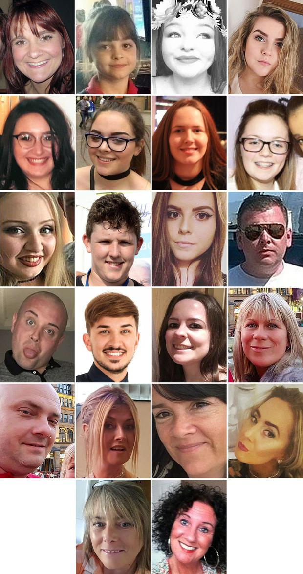 The 22 victims of the atrocity