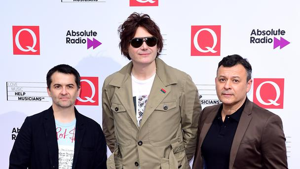 James Dean Bradfield, Nicky Wire and Sean Moore of the Manic Street Preachers (Ian West/PA)