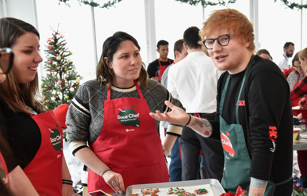 Ed Sheeran with fans. Photo: Getty Images