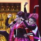 Netta from Israel performs the song Toy during the Eurovision Song Contest semi-final in Lisbon, Portugal on Tuesday (Image: AP Photo/Armando Franca)