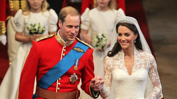 The Duke and Duchess of Cambridge's wedding music has been voted the nation's favourite (David Jones/PA)