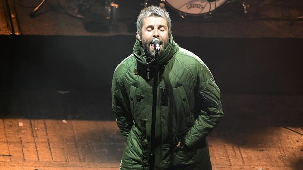 Liam Gallagher played ahead of the Rolling Stones on the opening night of the UK leg of their tour (Ian West/PA)