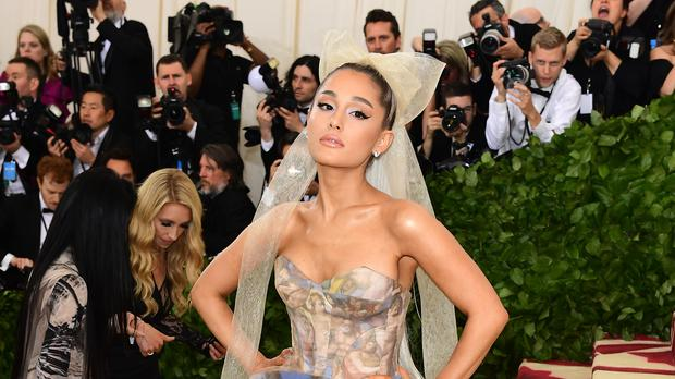 Ariana Grande cosies up to Pete Davidson in sweet picture (Ian West/PA)