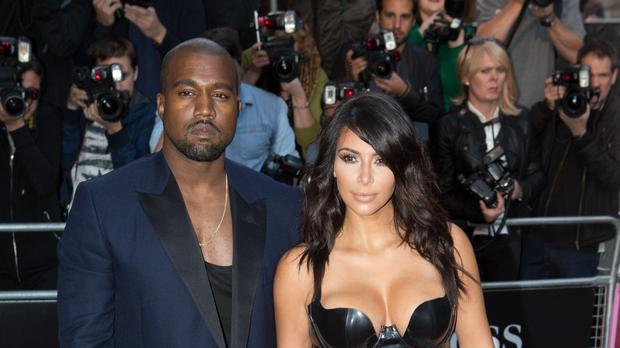 Kanye West and Kim Kardashian West (Daniel Leal-Olivas/PA)