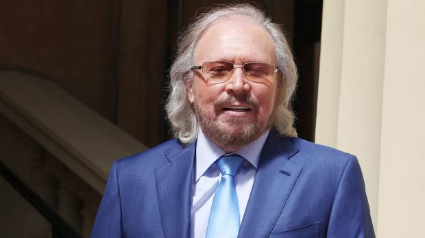 Singer and songwriter Barry Gibb at Buckingham Palace (Steve Parsons/PA)