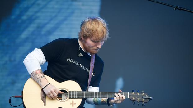 Ed Sheeran is being sued over claims he copied parts of a Martin Gaye song (Ben Birchall/PA)