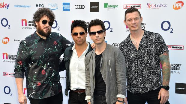 Jamie Morrison, Javier Wyler, Kelly Jones and Richard Jones of Stereophonics attend the Nordoff Robbins O2 Silver Clef Awards 2018 (Matt Crossick/PA)