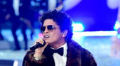 Bruno Mars. (Ian West/PA Wire)