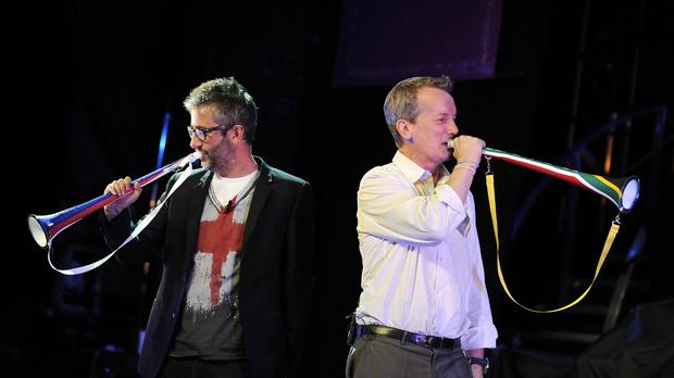 Baddiel and Skinner's Three Lions is back at number one on the UK singles chart (PA)