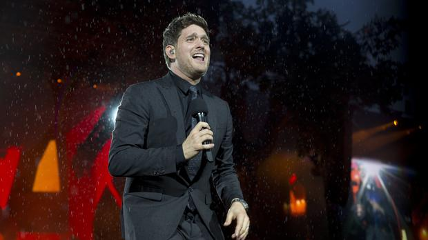 Michael buble thanks fans for support during stage return following michael buble took time out from his career when his son was diagnosed with cancer m4hsunfo
