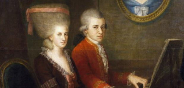 Party row: Wolfgang Amadeus and Constanze Weber
