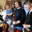 First Minister Nicola Sturgeon meets young musicians in Edinburgh who will be competing in the Eurovision Young Musicians 2018 contest (Jane Barlow/PA)