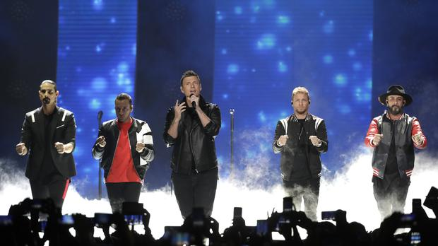 Backstreet Boys performing at Xcel Energy Center on July 20