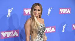Jennifer Lopez was one of the stars to arrive on the red carpet for the MTV Video Music Awards (Evan Agostini/Invision/AP)