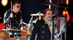 Bono struggled with vocal issues on stage (Nick Ansell/PA)